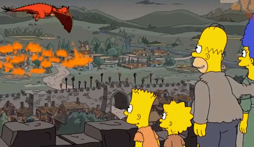 los simpson juego tronos 850x491 - La nueva predicción cumplida de Los Simpson: El capítulo 5 de la última temporada de Juego de tronos