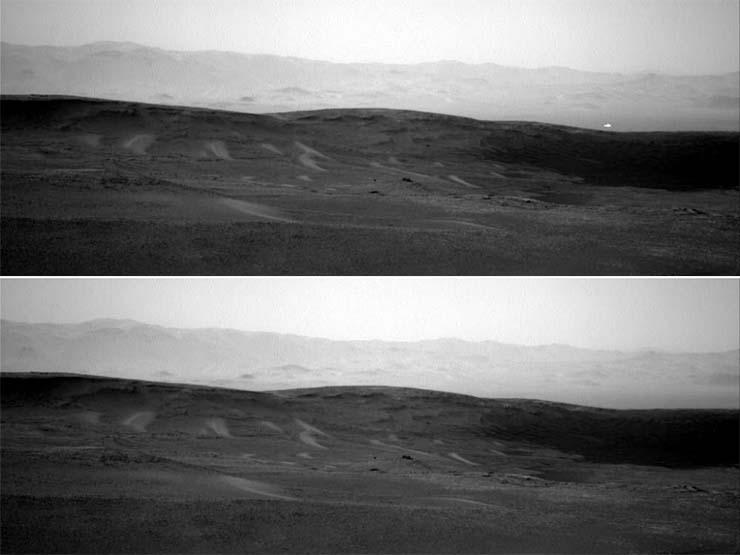 misteriosa luz blanca en marte - Imagen de la NASA muestra una misteriosa luz blanca en Marte y nadie sabe cuál es su origen
