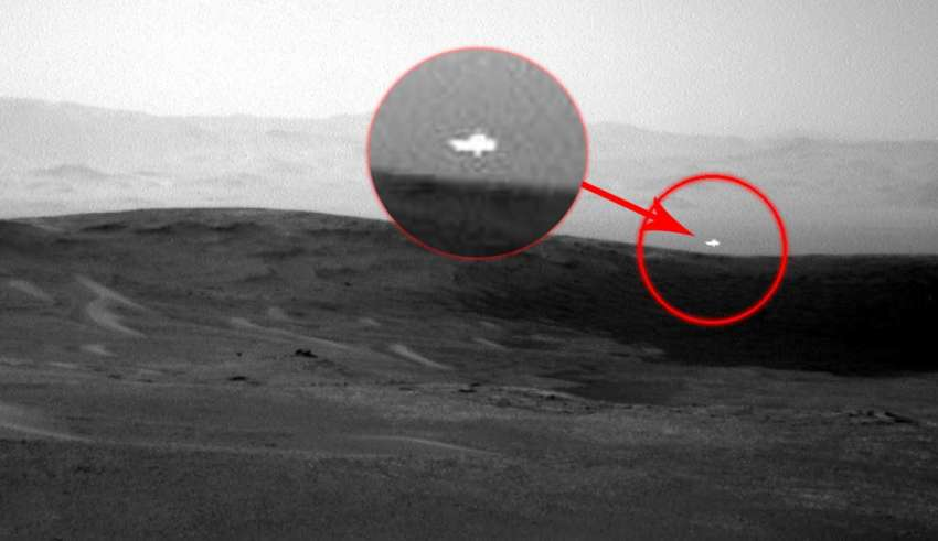 misteriosa luz blanca marte 850x491 - Imagen de la NASA muestra una misteriosa luz blanca en Marte y nadie sabe cuál es su origen