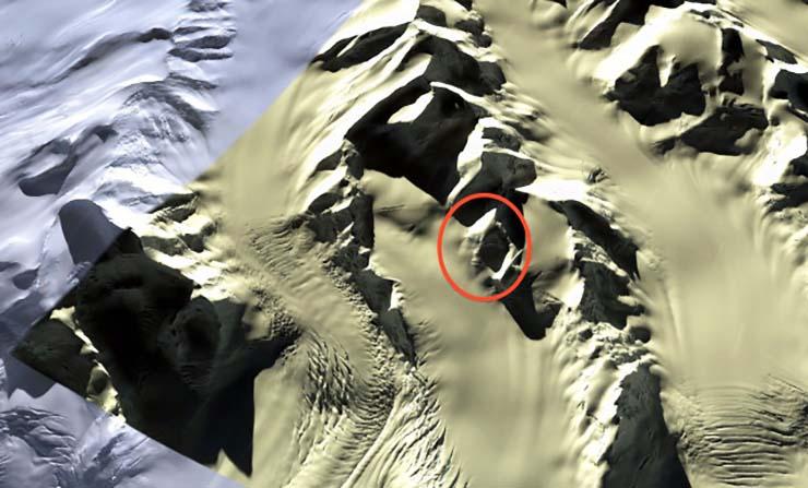 gigantesca cara extraterrestre antartida - Descubren una gigantesca cara extraterrestre en la Antártida