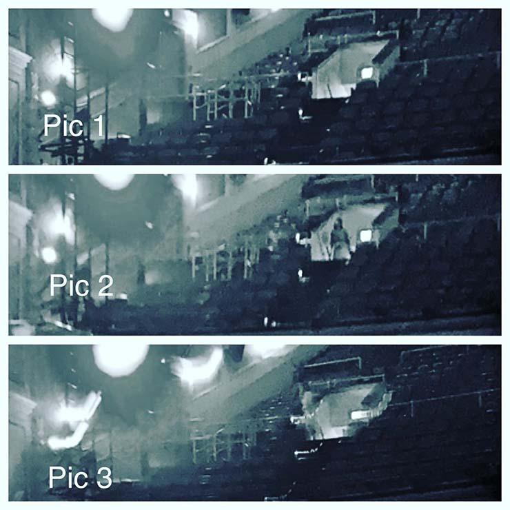 fantasma de una mujer teatro - Conocido pianista estadounidense fotografía el fantasma de una mujer en un teatro