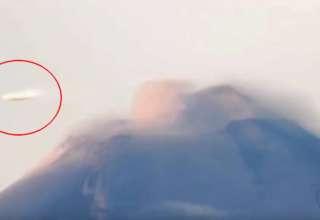 ovni popocatepetl 320x220 - Una cámara registra un OVNI en forma de disco volando sobre el volcán Popocatépetl