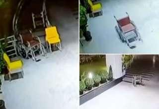 silla ruedas embrujada 320x220 - Cámaras de seguridad muestran una silla de ruedas embrujada moviéndose sola en un hospital de la India