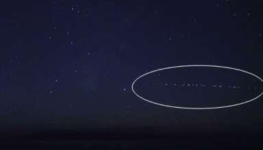 formacion extranas luces cielo 384x220 - Una formación de extrañas luces en el cielo provoca el pánico en Hawái