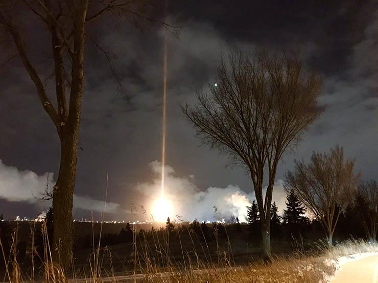 misterioso haz luz panico - Un misterioso haz de luz provoca el pánico en una ciudad canadiense