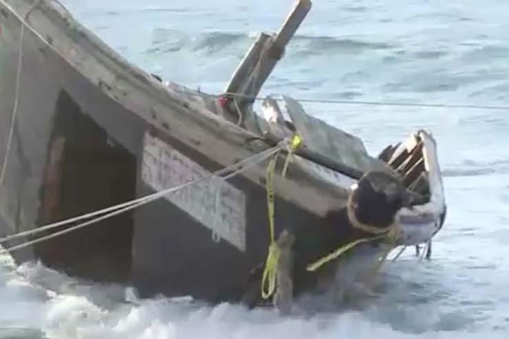 barco fantasma con esqueletos humanos - Aparece otro barco fantasma con esqueletos humanos en las costas de Japón