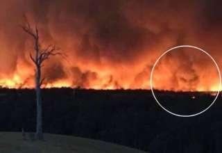 cara del diablo incendios 320x220 - Fotografían la cara del diablo en los incendios de Australia