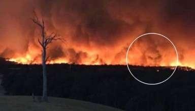 cara del diablo incendios 384x220 - Fotografían la cara del diablo en los incendios de Australia