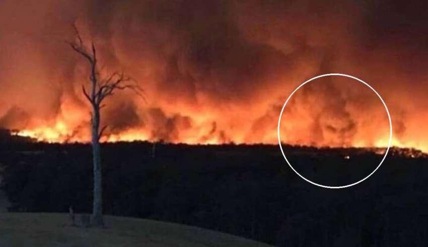 cara del diablo incendios 850x491 - Fotografían la cara del diablo en los incendios de Australia