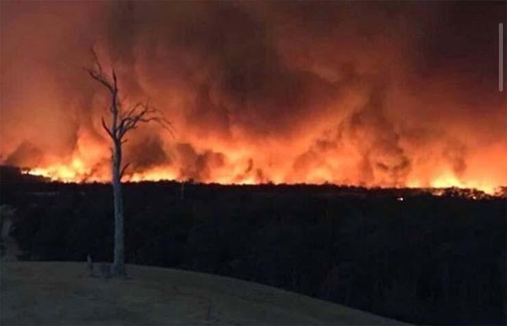 cara diablo australia - Fotografían la cara del diablo en los incendios de Australia