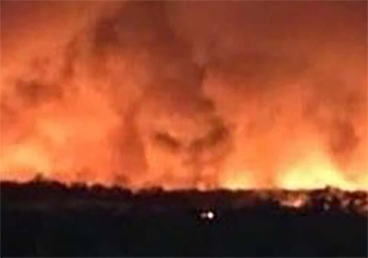 cara diablo en australia - Fotografían la cara del diablo en los incendios de Australia