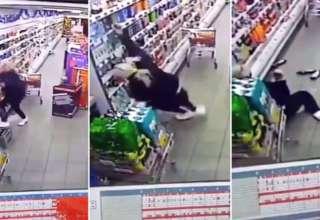 dependienta fantasma 320x220 - Este es el momento en que la dependienta de un supermercado en Escocia es atacada por un fantasma