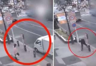 hombre teletransportandose calle 320x220 - Cámara de seguridad muestra un hombre teletransportándose en una calle delante de decenas de testigos