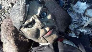 muneco ventrilocuo maldito 384x220 - Encuentran un muñeco ventrílocuo maldito en un río de México
