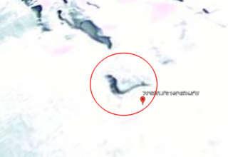 sirena congelada en antartida 320x220 - Descubren una sirena congelada en la Antártida a través de Google Earth