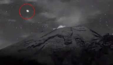 ovni saliendo volcan popocatepetl 384x220 - ¡Ya están aquí! Graban un enorme OVNI saliendo del interior del volcán Popocatépetl