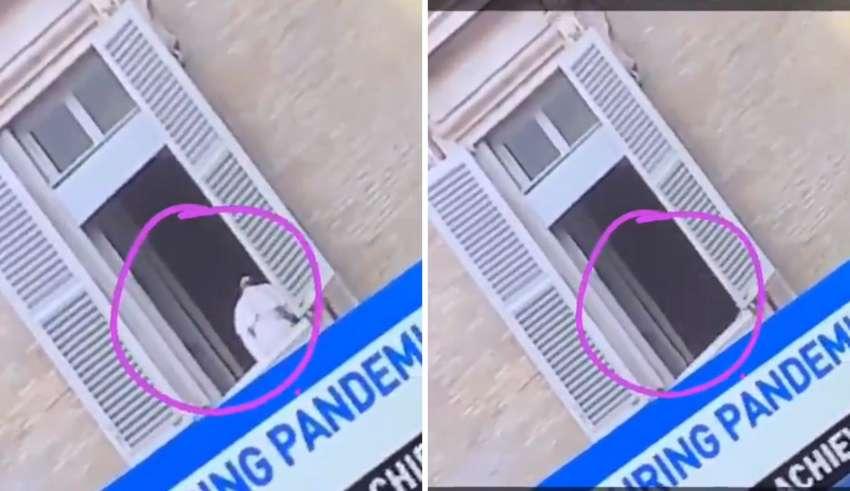 papa francisco desaparece misteriosamente 850x491 - El Papa Francisco desaparece misteriosamente en la ventana del Vaticano
