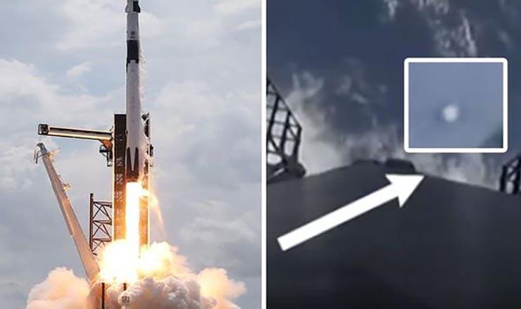 multiples ovnis lanzamiento spacex - Múltiples ovnis aparecen durante el histórico lanzamiento de SpaceX