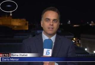 ovni noticias roma 320x220 - Aparece un OVNI a gran velocidad en pleno directo de las noticias desde Roma