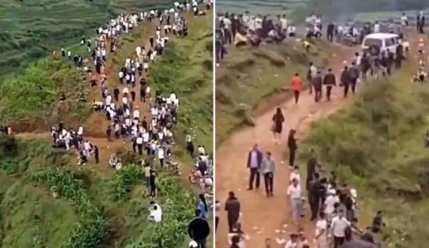 grunido dragon china 850x491 - Miles de personas escuchan el gruñido de un dragón en una montaña de China