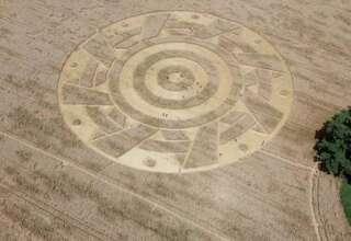 circulo alemania 320x220 - Aparece un extraño círculo de los cultivos con un patrón geométrico perfecto en un campo de Alemania