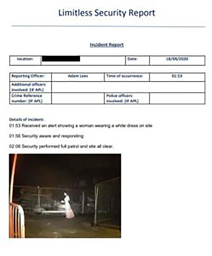 novia fantasmal obra de construccion - Cámara de seguridad detecta a una novia fantasmal en una obra de construcción en Inglaterra