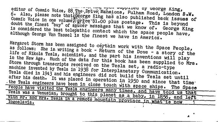 nikola tesla extraterrestre venus - Un nuevo documento desclasificado del FBI afirma que Nikola Tesla era un extraterrestre de Venus