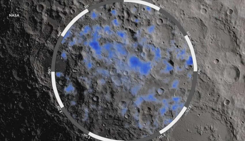 agua luna 850x491 - La NASA confirma que hay abundante agua en la Luna y la existencia de vida extraterrestre