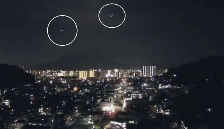 ovni sakurajima 850x491 - Alerta OVNI en Japón: Misteriosos objetos sobrevuelan el volcán Sakurajima