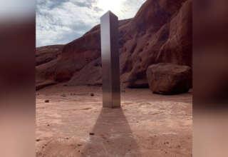monolito metal 320x220 - Hallan un misterioso monolito en el desierto de Utah y nadie sabe lo que es, ¿tecnología extraterrestre?