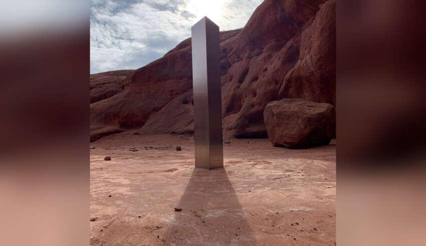 monolito metal 850x491 - Hallan un misterioso monolito en el desierto de Utah y nadie sabe lo que es, ¿tecnología extraterrestre?