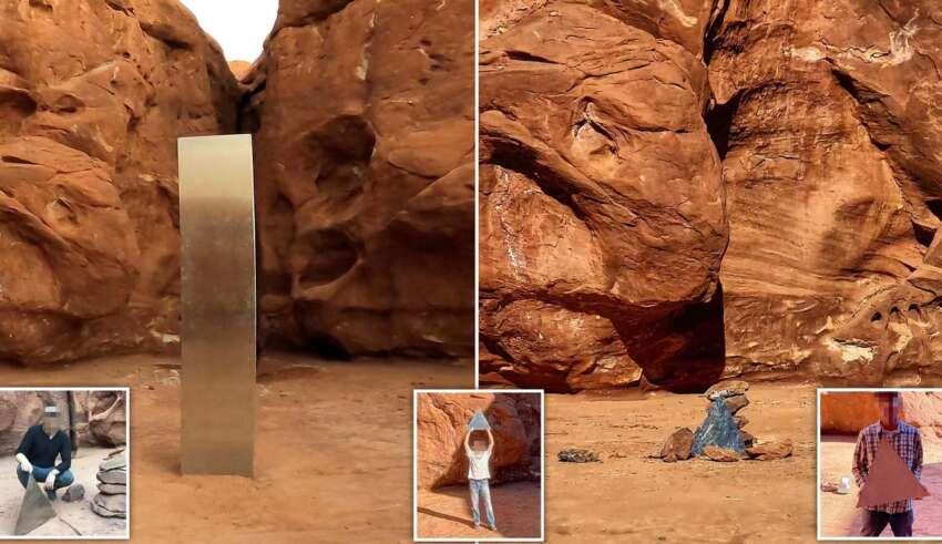 monolito utah desaparece 850x491 - El misterioso monolito de Utah desaparece repentinamente y aparecen estructuras similares en otras partes del mundo