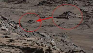 ovni estrellado en marte 384x220 - Imagen de la NASA muestra un OVNI estrellado en Marte