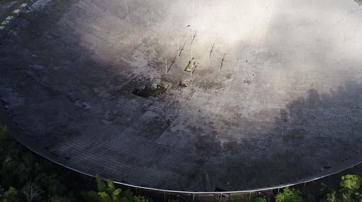 radiotelescopio arecibo accidente - El radiotelescopio de Arecibo vuelve a sufrir un misterioso accidente, ¿qué quieren ocultar?