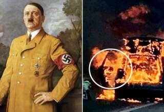 rostro demoniaco adolf hitler 320x220 - La policía británica fotografía un rostro demoníaco en un coche en llamas y es similar a Adolf Hitler