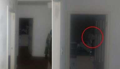 fantasma mirandolo fijamente 384x220 - Un hombre huye de su casa después escuchar extraños ruidos y fotografiar un fantasma mirándolo fijamente
