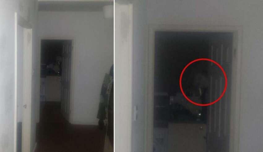 fantasma mirandolo fijamente 850x491 - Un hombre huye de su casa después escuchar extraños ruidos y fotografiar un fantasma mirándolo fijamente
