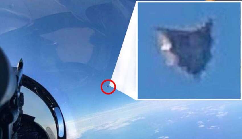 ovni extraterrestre atlantico 850x491 - Una foto filtrada del Departamento de Defensa de EE.UU. muestra un OVNI de origen extraterrestre sobre el Atlántico