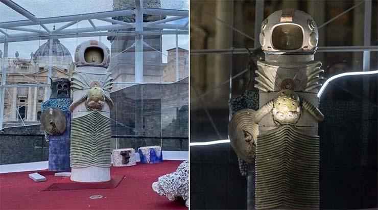 pesebre del vaticano - El significado oculto del pesebre del Vaticano, ¿nos preparan para el 'Primer contacto' extraterrestre?
