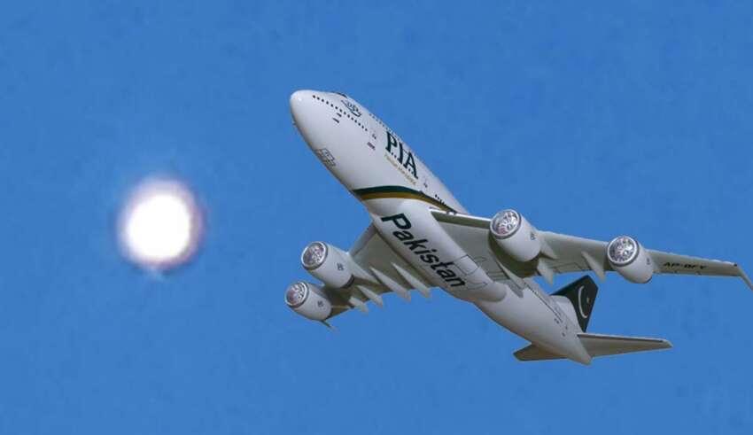 ovni pakistan 850x491 - Pilotos de una aerolínea graban una misteriosa esfera muy brillante a 10.000 metros de altura sobre Pakistán