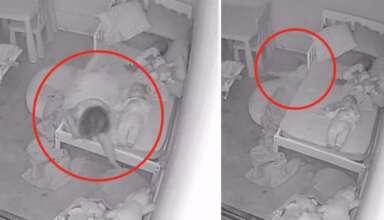 fantasma arrastrando hija 384x220 - Padres aterrorizados al descubrir un fantasma arrastrando a su hija debajo de la cama