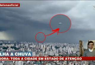ovni noticias directo brasil 320x220 - OVNI en forma de cigarro aparece durante las noticias en directo de Brasil