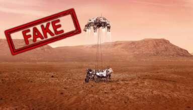 perseverance en marte 384x220 - ¿El aterrizaje de Perseverance en Marte ha sido un engaño de la NASA?