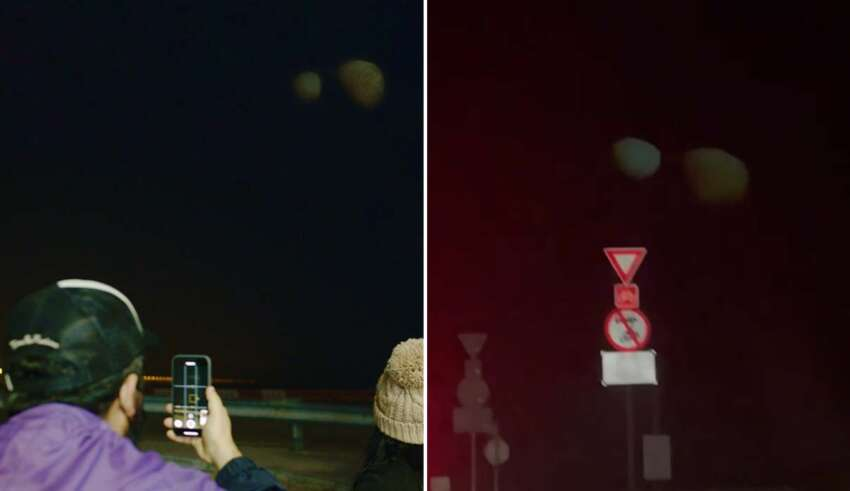planetas dubai 850x491 - Decenas de personas ven dos gigantescos y misteriosos planetas gemelos en el cielo de Dubái