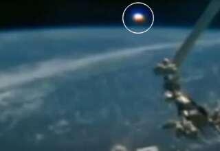 gigantesco ovni tierra 320x220 - La Estación Espacial Internacional capta un gigantesco OVNI del tamaño de un planeta sobre la Tierra