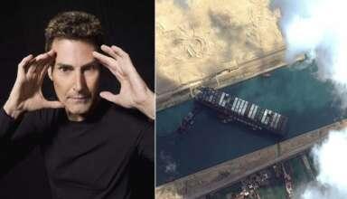uri geller canal suez 384x220 - Uri Geller asegura haber desencallado el Ever Given en el canal de Suez con el poder de la mente