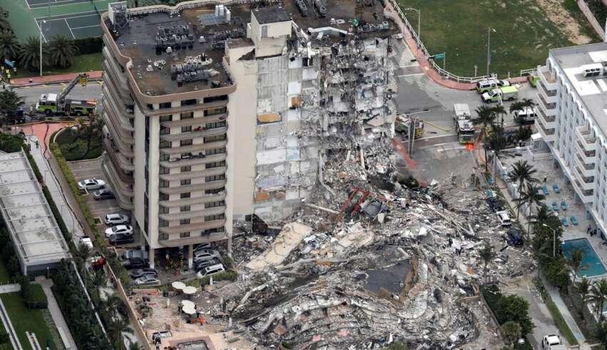 derrumbe edificio miami 850x491 - Una superviviente del derrumbe del edificio en Miami asegura que una voz sobrenatural le salvó la vida