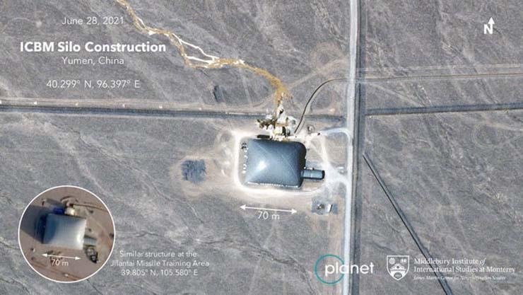 tercera guerra mundial misiles nucleares - ¿Preparándose para la Tercera Guerra Mundial? China construye más de 100 nuevos silos para misiles nucleares