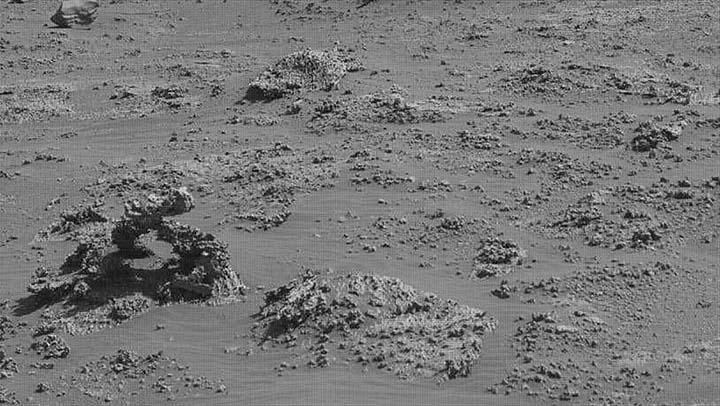 nasa inexplicable formacion marte - El rover Curiosity de la NASA encuentra una inexplicable formación en Marte