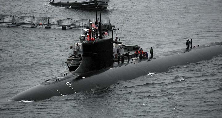 submarino nuclear osni - Un submarino nuclear de EE.UU. choca con un OSNI en el mar de China